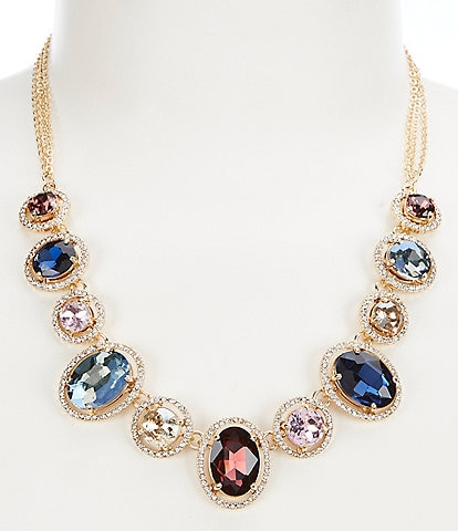 Gemma Layne Oval Round Frontal Necklace