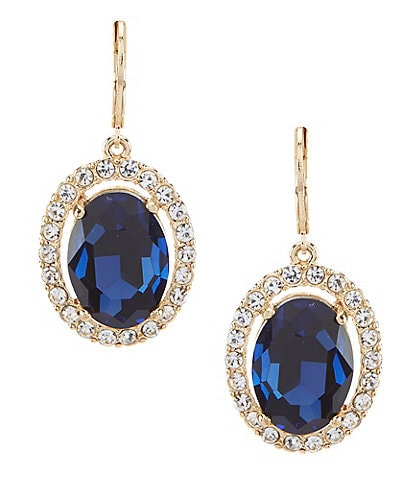 Gemma Layne Pavé Oval Drop Earrings