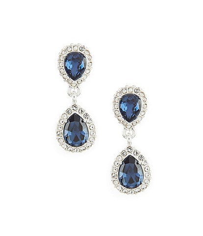 Gemma Layne Pav Pear Double-Drop Statement Earrings