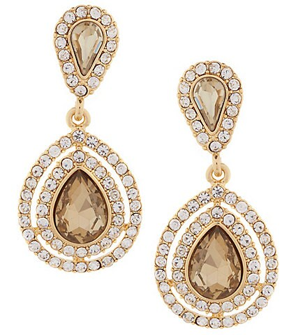 Gemma Layne Pav Teardrop Earrings