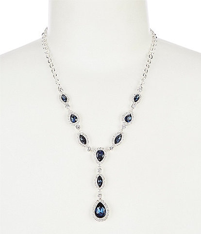 Gemma Layne Pave Navette Y-Necklace