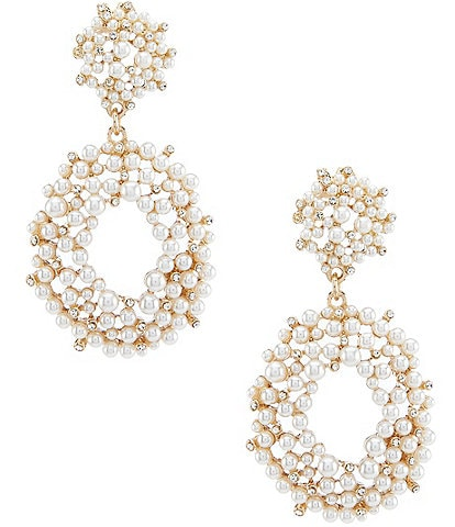 Gemma Layne Pave Pearl Drop Earrings
