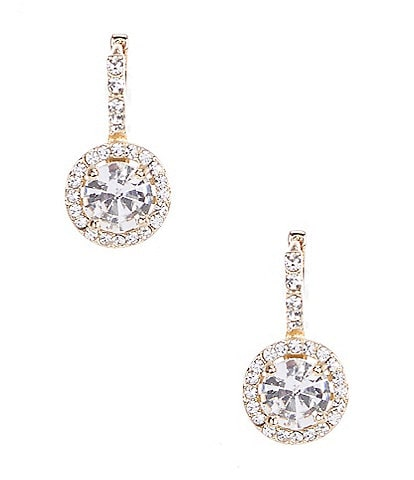 Gemma Layne Pave Round Stone Drop Earrings