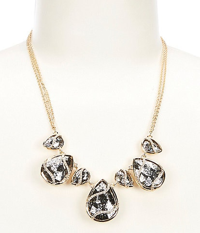 Gemma Layne Pave Stone Wrap Collar Necklace