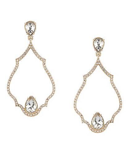 Gemma Layne Pave Tear Drop Chandelier Earrings