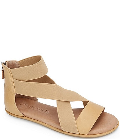 Gentle Souls Break Elastic Leather Sandals