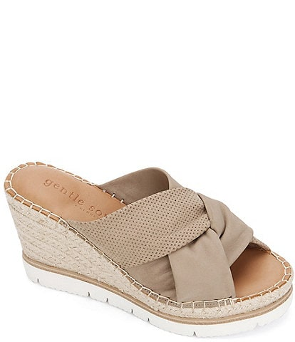 Gentle Souls Elyssa Espadrille Wedge Sandals