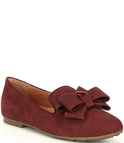 Gentle Souls Eugene Nubuck Ribbon Bow Loafers