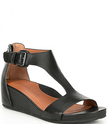 Gentle Souls Gisele Leather Wedge Sandals