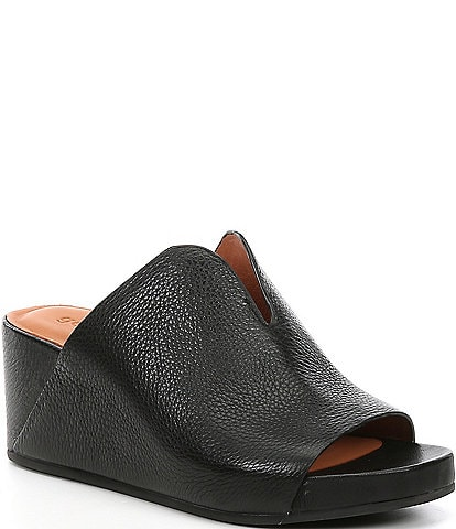 Gentle Souls Gisele Leather Wedge Slides