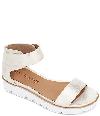 Gentle Souls Lavern Easy Strap Leather Sandals