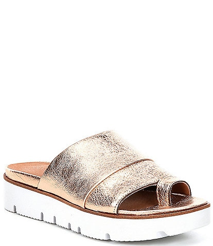 Gentle Souls Lavern Leather Toe Thong Slides