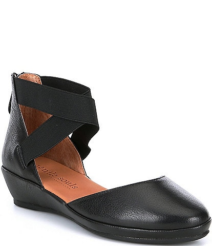Gentle Souls Noa Leather Wedges