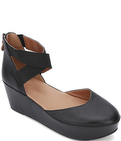 Gentle Souls Nyssa Leather Platform Wedges