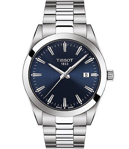 Gentleman Stainless Steel Blue Dial Bracelet Watch
