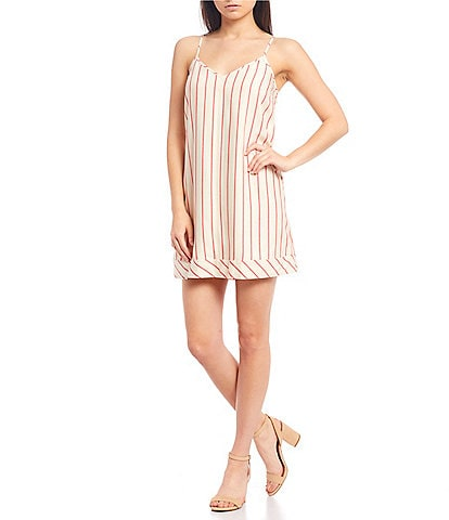 Gianni Bini Abi Stripe Slip Mini Dress