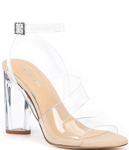 Gianni Bini Ahrley Clear Strappy Sandals