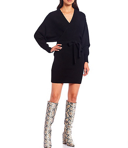 Gianni Bini Alston Tie Front Sweater Dress