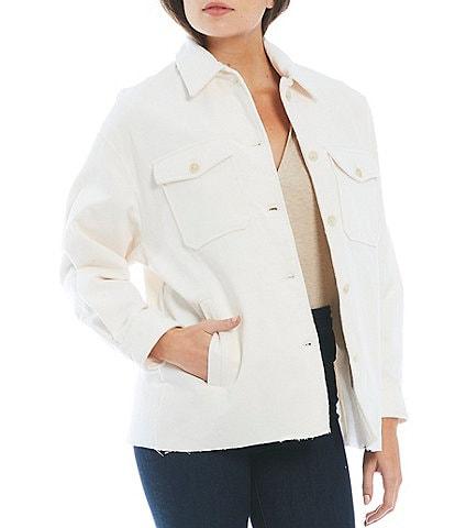 Gianni Bini Alyssa Long Sleeve Point Collar Corduroy Jacket