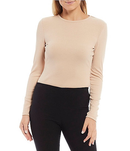 Gianni Bini Anabel Round Neck Long Sleeve Bodysuit