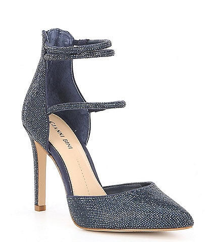 Gianni Bini Anyssah Strappy Jeweled Pumps