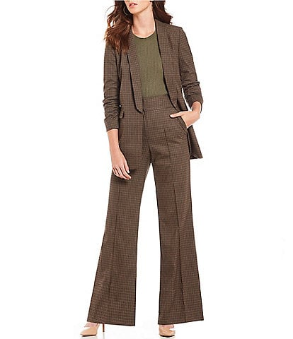 Gianni Bini Ashley Boyfriend Plaid Blazer & Moana Menswear Plaid Print Wide Leg Pant