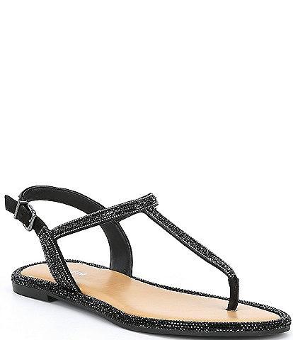 Gianni Bini Avellia Jewel Embellished T-Strap Sandals