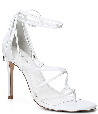 Gianni Bini Barilee Leather Strappy Tie Dress Sandals