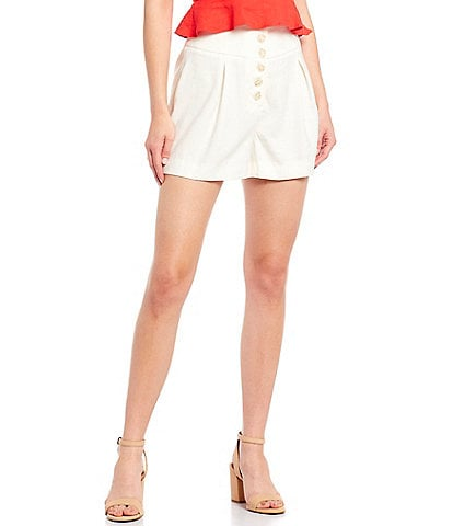 Gianni Bini Bella Button Front Short