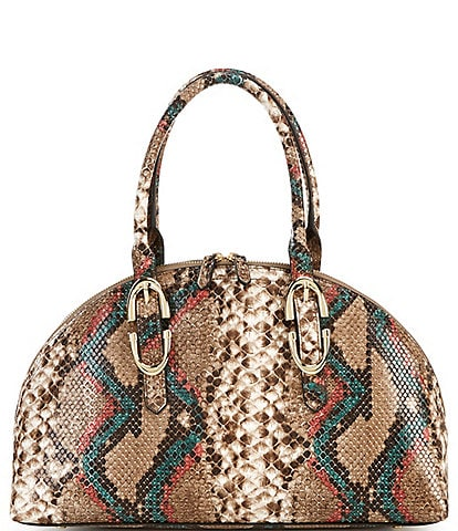 Gianni Bini Bowler Snake Printed Satchel Bag