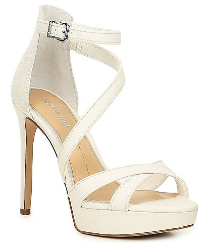 Gianni Bini Bridal Collection Corielle Glitter Strappy Platform Sandals