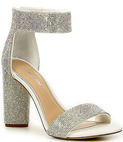 Gianni Bini Bridal Collection Ronilynn Jewel Embellished Dress Sandals