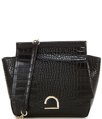 Gianni Bini Camilla Crocodile-Embossed Crossbody Bag
