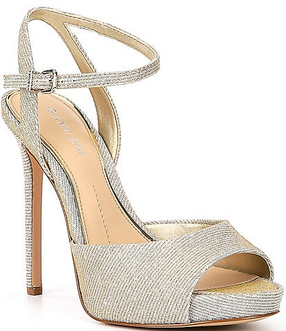 Gianni Bini Camwren Metallic Stiletto Platform Sandals