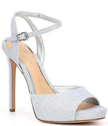 Gianni Bini Camwren Metallic Stiletto Platform Sandals