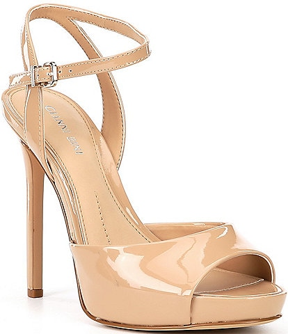 Gianni Bini Camwren Patent Stiletto Platform Sandals