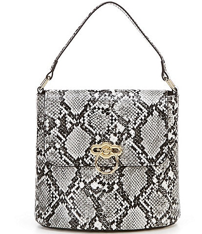 Gianni Bini Charming Snake Bucket Bag