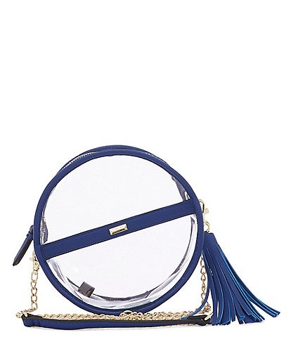 Gianni Bini Clear Circle Stadium Crossbody Bag