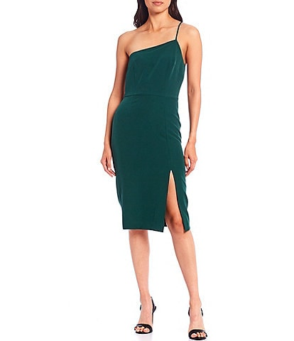 Gianni Bini Coco Asymmetric Crepe Sheath Dress