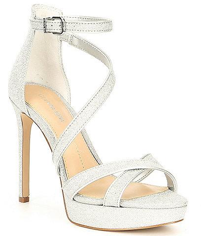 Gianni Bini Corielle Glitter Strappy Platform Sandals