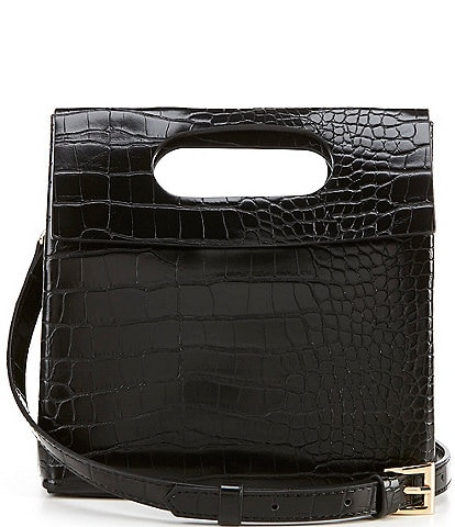 Gianni Bini Crocodile-Embossed Fold Crossbody Bag