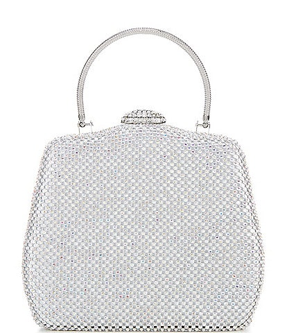 Gianni Bini Crystal Mesh Top Handle Clutch Bag