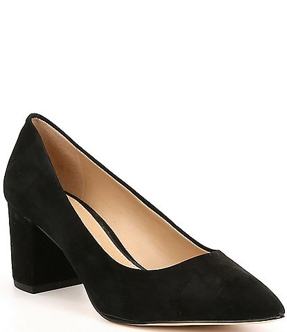 Gianni Bini Delancy Suede Block Heel Pumps