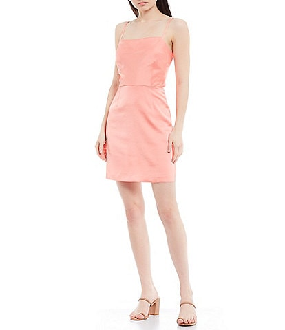Gianni Bini Eleanor Square Neck Sleeveless Stretch Crepe Mini Dress