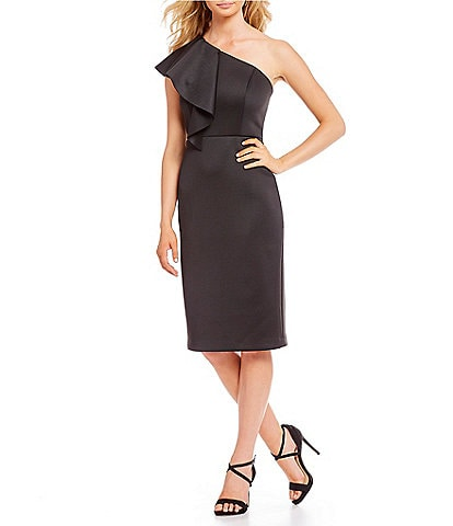 Gianni Bini Elise Ruffle One Shoulder Sheath Dress