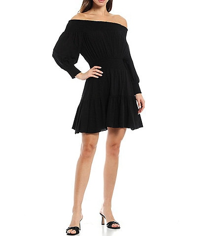 Gianni Bini Ella Long Sleeve Off-the-Shoulder Dress