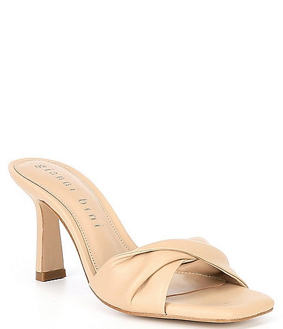 Gianni Bini Emberie Leather Twisted Band Dress Mules