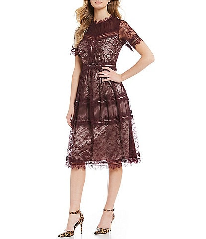 Gianni Bini Emily Lace Midi Dress