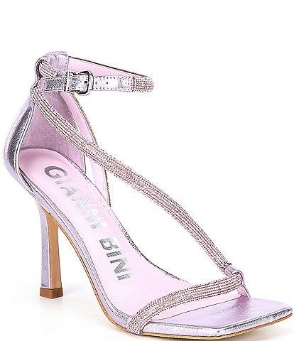 Gianni Bini Evallinaah Rhinestone Square Toe Sandals