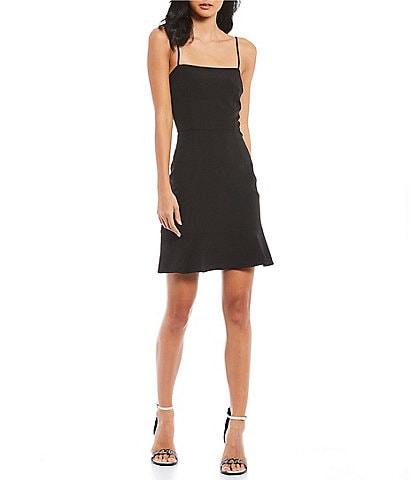 Gianni Bini Evie Square Neck Sleeveless Ruffle Hem Slip Dress